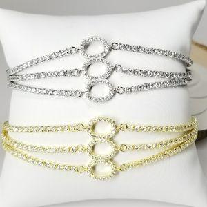 NEW in Gift Box Pave CZ Slider Tennis Bracelet NWT